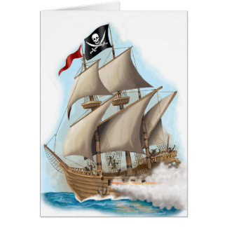kids pirate birthday card