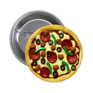 Kids Pizza Birthday Party 2 Inch Round Button