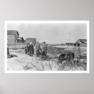 Kids Play in Nome, Alaska 1914 Poster