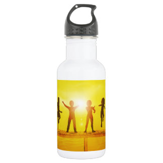 Kids Playing in the Summertime on a Pier 532 Ml Water Bottle