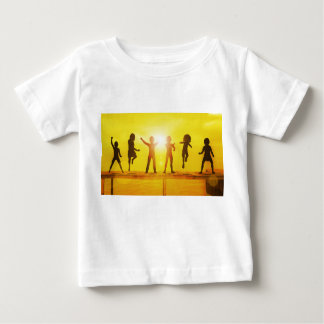 Kids Playing in the Summertime on a Pier Baby T-Shirt