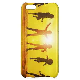 Kids Playing in the Summertime on a Pier Cover For iPhone 5C