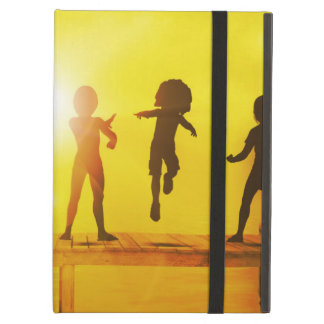 Kids Playing in the Summertime on a Pier iPad Air Cover