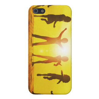 Kids Playing in the Summertime on a Pier iPhone 5/5S Case