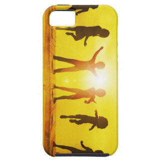 Kids Playing in the Summertime on a Pier iPhone 5 Case