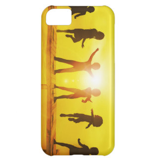 Kids Playing in the Summertime on a Pier iPhone 5C Cases