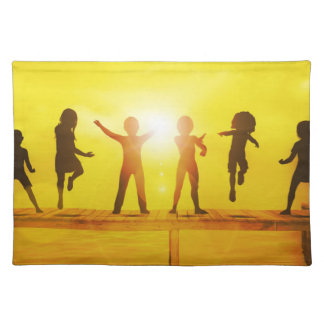 Kids Playing in the Summertime on a Pier Placemat
