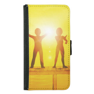 Kids Playing in the Summertime on a Pier Samsung Galaxy S5 Wallet Case