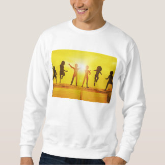 Kids Playing in the Summertime on a Pier Sweatshirt