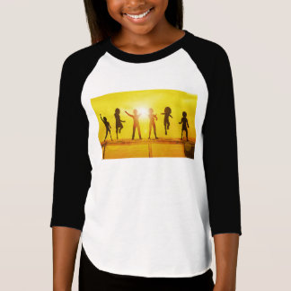 Kids Playing in the Summertime on a Pier T-Shirt