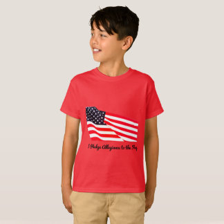 Kids' Pledge Allegiance Flag Hanes T-Shirt