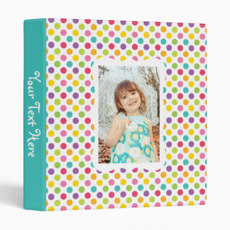 Kids Polka Dot Photo Album 3 Ring Binders