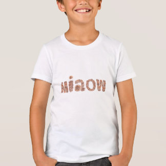 Kids' poly-cotton T-shirt with 'miaow'
