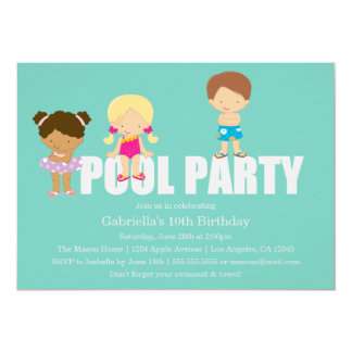 Kids Pool Party | Birthday Party Invitation