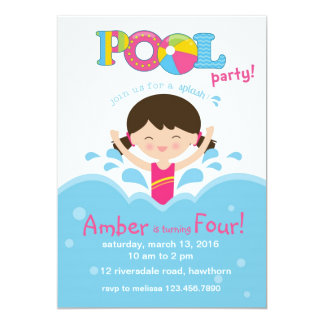 Kids Pool Party Invitation / Pool Invitation