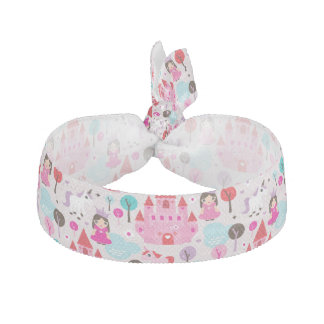 kids princess castle and unicorn hair tie