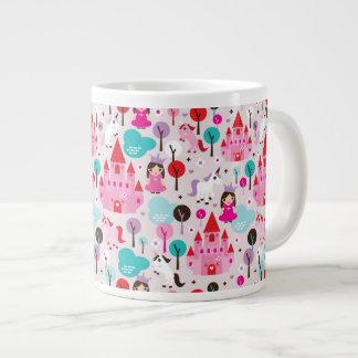 kids princess castle and unicorn large coffee mug