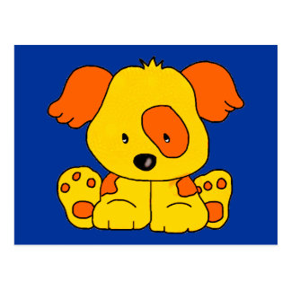 Kid's Puppy Dog Yellow Orange Spot Postcard