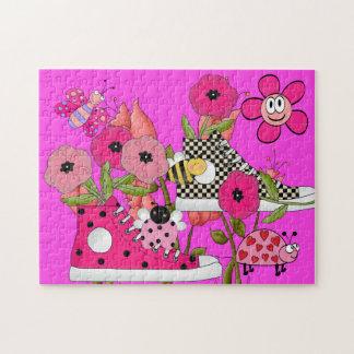 Kids Puzzle Flowers Shoes Bugs Puzzle
