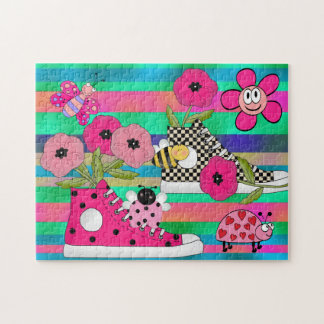 Kids Puzzle Flowers Shoes Bugs