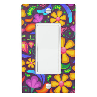 Kids rainbow color abstract light switch cover