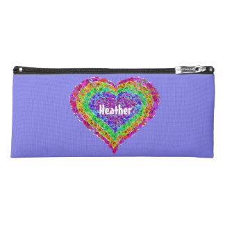 Kids Rainbow Heart Pencil Case for Back to School