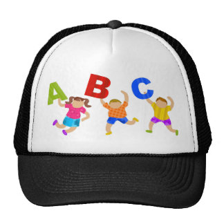 Kids Reading Writing Daycare Teaching Learning Trucker Hat