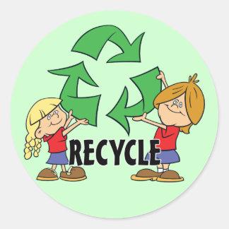 Kids Recycle Round Sticker
