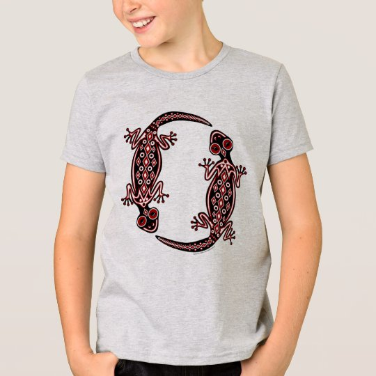 Kids Red Geckos Totem Tee