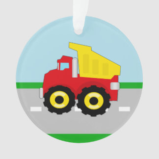 Kid's Red/Yellow Dump Truck on Road