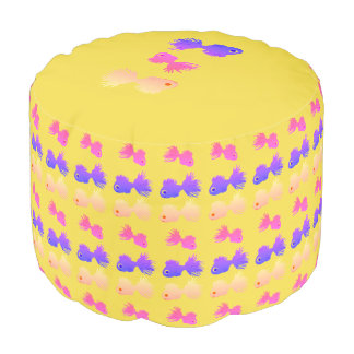 Kids Room Accessories Fishes Pouf yellow