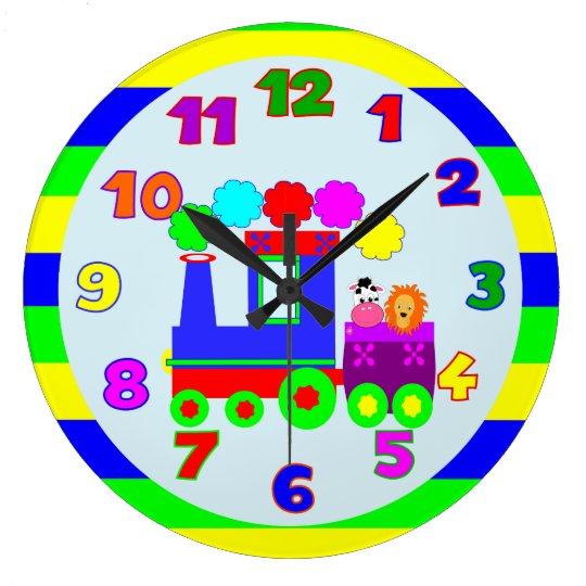 Kids room kids nursery wall clocks zazzle for Kids room clock