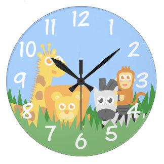 Kids Room - Safari Animals Themed Wall Clock