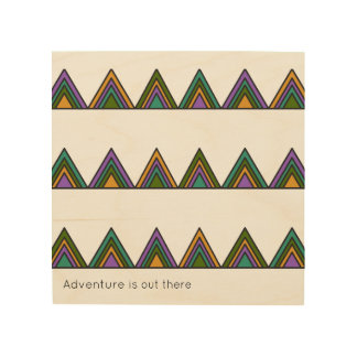 Kids Room - Wall Art - Adventure is out there Wood Canvases