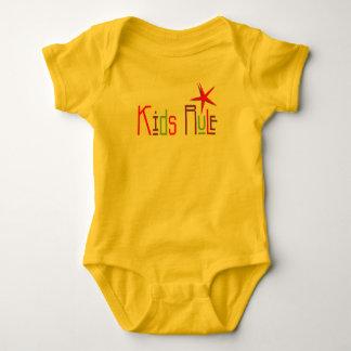Kids Rule Baby Bodysuit