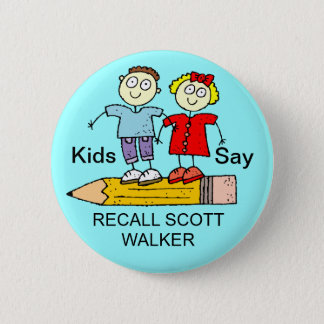 KIDS SAY RECALL SCOTT WALKER 2 INCH ROUND BUTTON