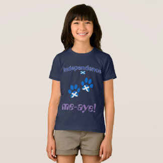 Kids Scottish Independence Cats Saltire Paws T-Shirt