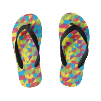 Kids Scribble Pattern Kid's Flip Flops