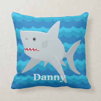 KIDS SHARK LOVER Waves Custom Pillow For Boat Gift