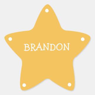 Kids Sheriff Badge Name Tag