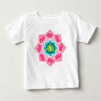 Kids Shirt Pink elephants Namaste Lotus Flower