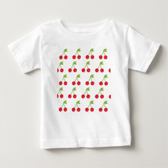 Kids shop : cherry artwork / Red Baby T-Shirt