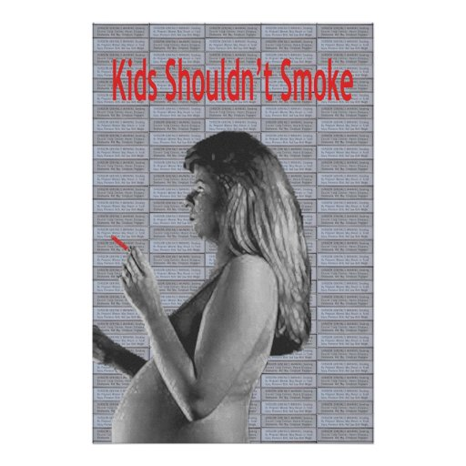 Kids Shouldn't Smoke Poster