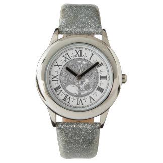 Kid's Silver Glitter Strap Watch