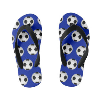 Kids Soccer Flip Flops in Colors