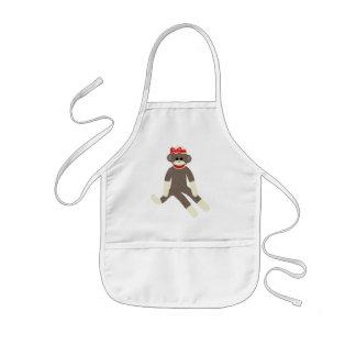 Kids Sock Monkey apron