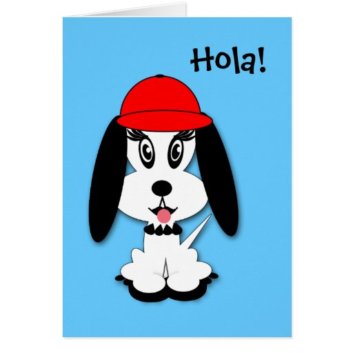Kids Spanish Birthday Kute Doggy Greeting Card
