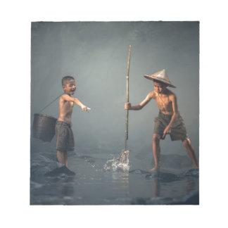 Kids Spear Fishng Notepad