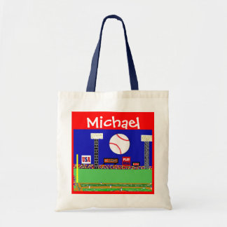 Kids Sports Personalized Baseball Art Gym Bag Gift