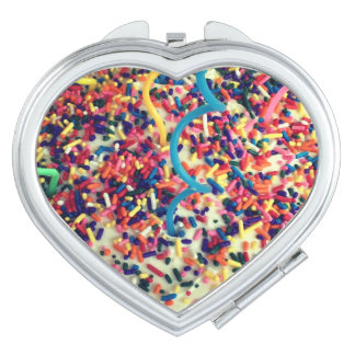 Kids Sprinkle Heart Compact Mirror